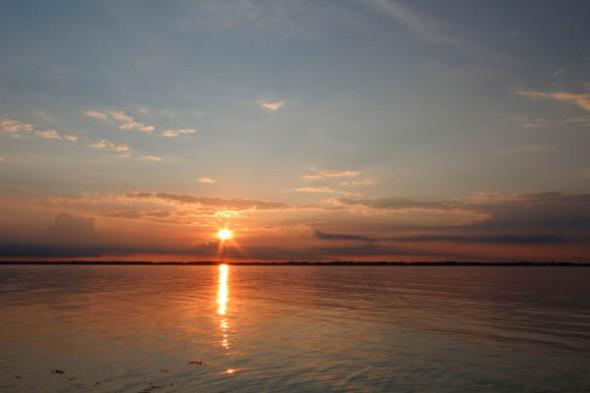 Eckernförde bei Sonnenuntergang