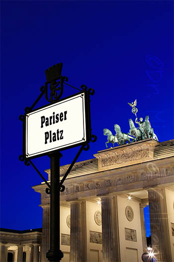 Berlin - Pariser Platz with Brandenburger Tor