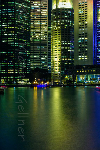 Singapore - Raffles Place at night