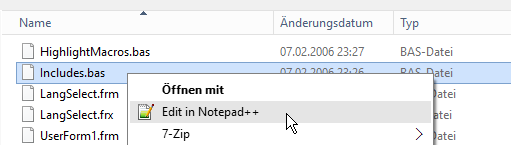 Notpad++ via Kontextmenü aufrufen