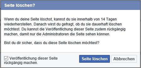 facebook-seite-loschen